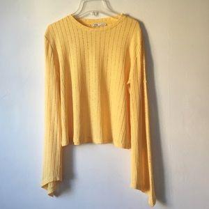 Zara Yellow Sweater Blouse Large